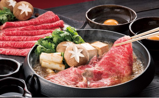 なかやま牧場 ギフトセット:神石牛ロースすき焼き用+高原黒牛ロースすき焼き用