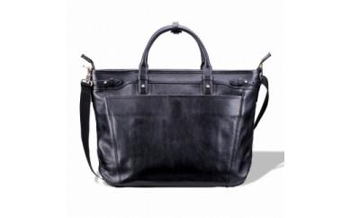 ビジネス 豊岡鞄 皮革ビジネストート(ブラック)