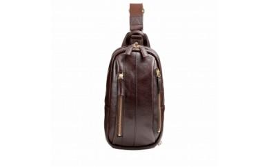 豊岡鞄 皮革ワンショルダー(チョコ)