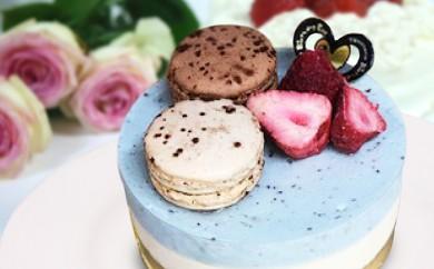 [№5742-0600]ちょこっときたみント(チョコミントとレアチーズの冷凍ケーキ)