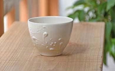 [№5796-0477]いっちん文様 陶器の湯呑み 1個