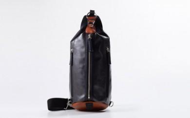 豊岡鞄 帆布×皮革ワンショルダー(24-132)  ブラック
