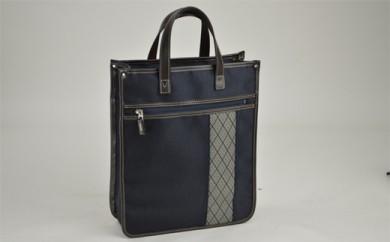 鞄の國 和柄帯縦型トート (01022-03) コン
