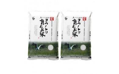 コウノトリ育むお米減農薬【5kg×2袋】(94-004)