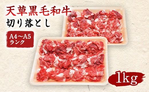 熊本県天草産 黒毛和牛 切り落とし 1kg A4~A5ランク