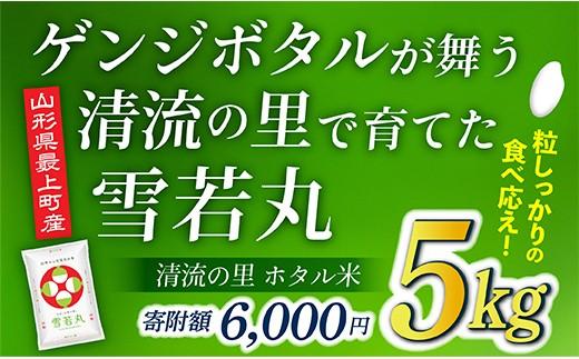 006-R2 【新米予約】最上町産 ホタル米雪若丸5kg