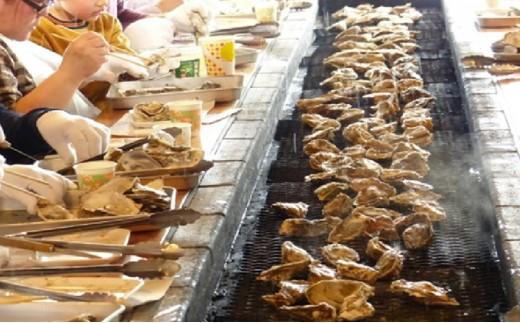 [№5863-0424]道の駅『コンキリエ』殻牡蠣食べ放題、牡蠣剥き体験セットお土産付