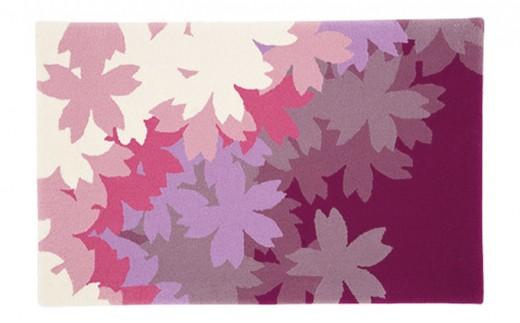 [№5922-0596]山形緞通 SAKU(咲く)マット(縦60×横95cmウール100%)