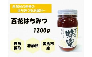 【美馬市産】日本みつばち<百花はちみつ>1200g