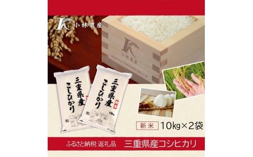 D16令和元年三重県産コシヒカリ 20kg(10kg×2袋)
