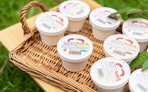 佐賀脊振高原ミルン牧場手作りアイスクリームセット