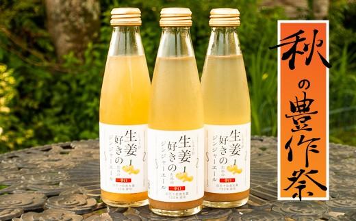 <秋の豊作祭>生姜たっぷり本格派!生姜好きのためのジンジャーエール 24本セット Qak-15