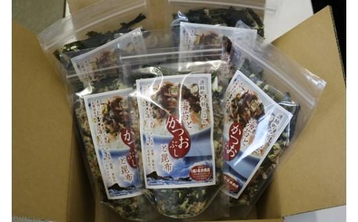 「海苔とかつおぶしと昆布」は5袋セットでお届けします。