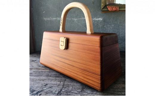 木製 ハンドバッグ Lサイズ (メープル白木)[№5651-0780]