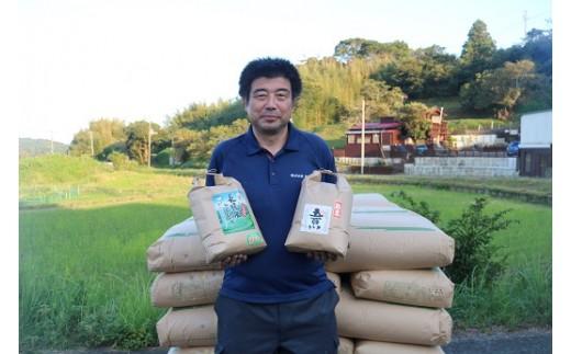 新倉さんのお米マイスター。斎藤社長。