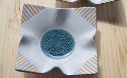 《やちむん市場》ガラスダマリ変形角皿 限定:20セット