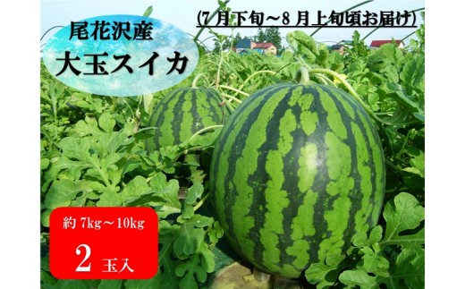 117C.尾花沢産大玉スイカ×2個(7月下旬~8月上旬頃発送)