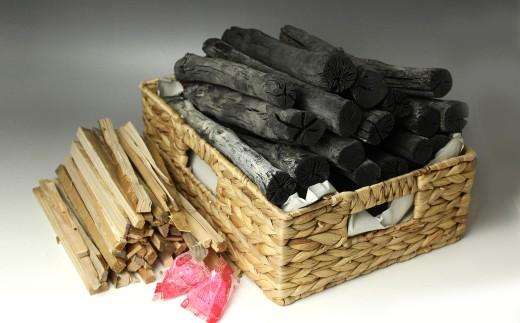 【GETO白炭】7日間かけて製炭する木炭職人の白炭4kg 木炭と着火剤セット