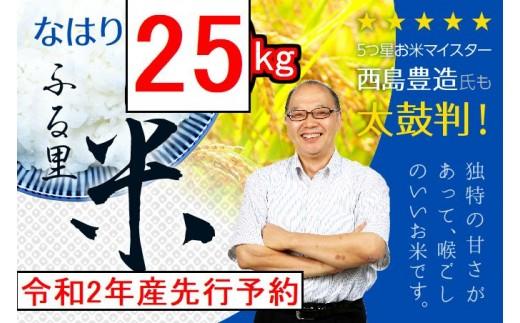 31kome25b (令和2年産米先行予約)お米五つ星マイスター推奨♪なはり米25kg