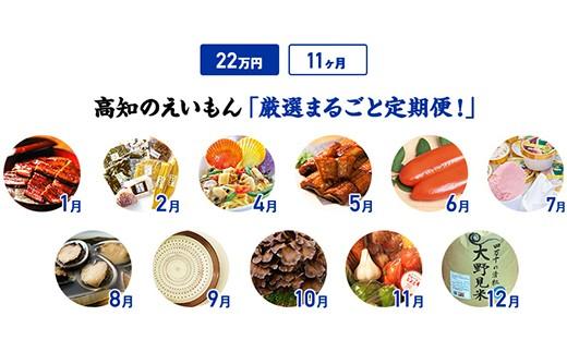 【11カ月】高知のえいもん厳選まるごと定期便!22万円コース