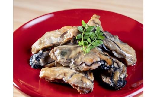 【盛付け例】牡蛎燻製にんにくオイル漬