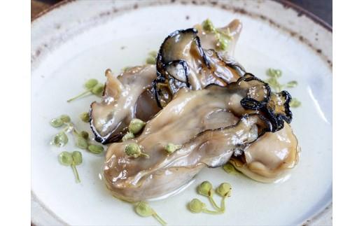 【盛り付け例】牡蛎燻製山椒オイル漬