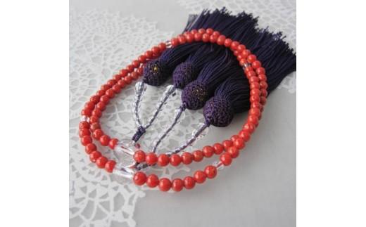 珊瑚職人館の珊瑚の数珠(j6)