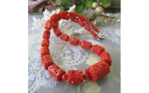 珊瑚職人館の珊瑚ネックレス4