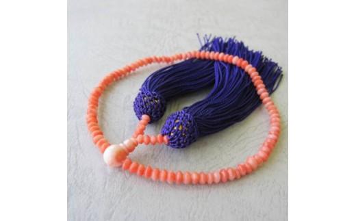 珊瑚職人館の珊瑚の数珠(j5)
