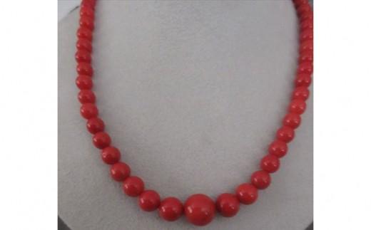 赤珊瑚玉 ネックレス