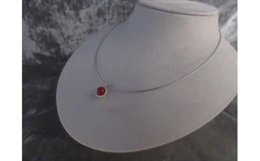 血赤珊瑚玉ペンダントC