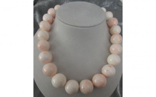 ピンク珊瑚玉 ネックレスA