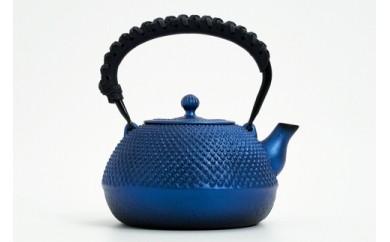 南部鉄器 鉄瓶 平成丸アラレ(るり色) 革ハンドル仕様