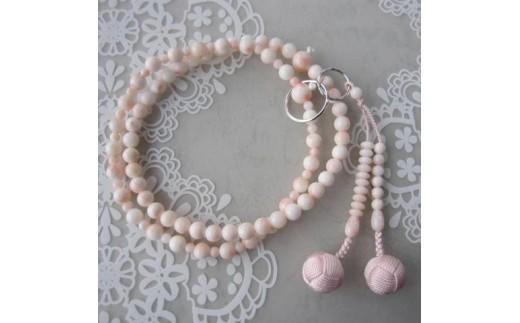 珊瑚職人館の珊瑚の数珠(j9)