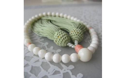 珊瑚職人館の珊瑚の数珠(j2)