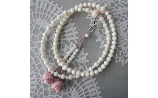 珊瑚職人館の珊瑚の数珠(j1)