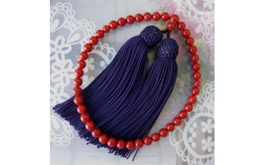 珊瑚職人館の珊瑚の数珠(j10)