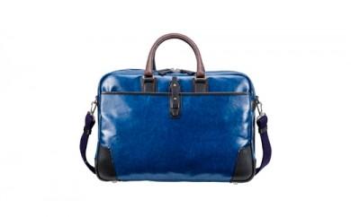豊岡鞄 帆布PU×レザーソフトブリーフ2Room(24-156)ブルー