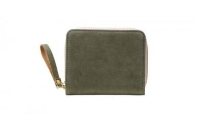 豊岡鞄 TUTUMU Nubuck Z compact Wallet (SW101)カーキ