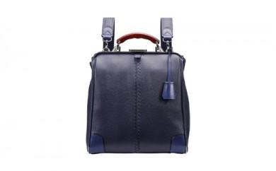 豊岡鞄 YOUTA LIZARD 3WAY 縦ダレス(YK-3M)ネイビー