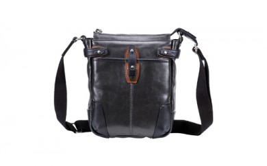 豊岡鞄 帆布PU×レザーショルダーS(24-170)ブラック
