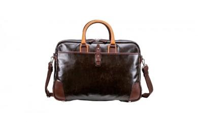 豊岡鞄 帆布PU×レザーソフトブリーフ2Room(24-156)チョコ