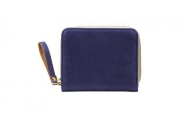 豊岡鞄 TUTUMU Nubuck Z compact Wallet (SW101)ネイビー