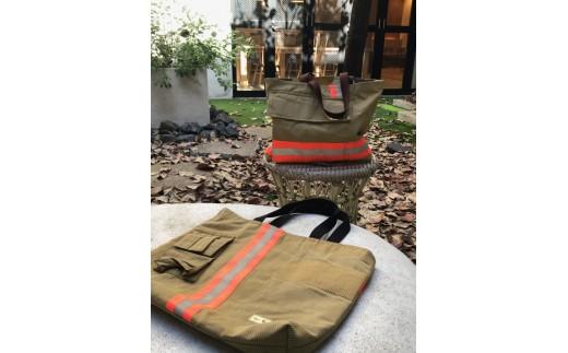 消防防火衣リメイクバッグ