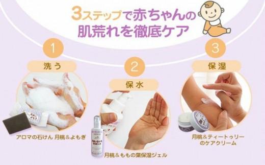 肌荒れ予防セット(アロマのせっけん 月桃&よもぎ)