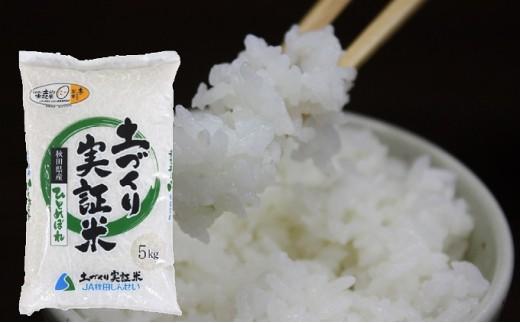 [№5685-2051]秋田県産 土づくり実証米ひとめぼれ5kg