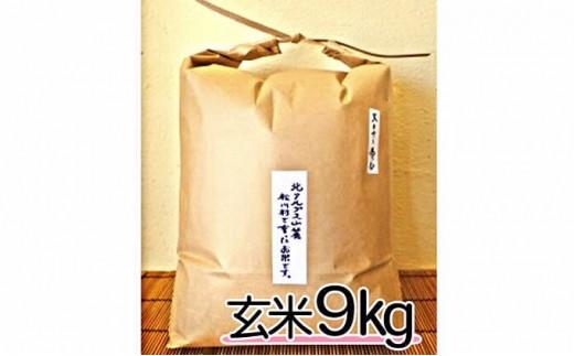 [№5737-0288]自然栽培 天日干し 朝日 玄米9㎏