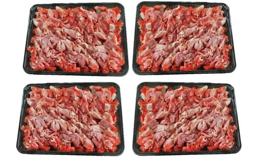 まつぼっくり  豚肉モモ切り落としパック2.0kg_matu-268