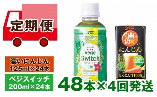 【定期便4回発送】ベジスイッチ・濃いにんじん<6-12>