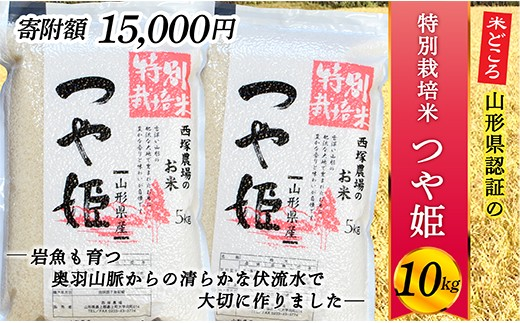 015-R2-022 【新米予約】山形県最上町産 特別栽培米つや姫10㎏